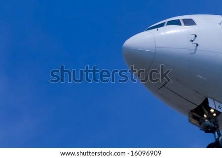 airplane close up - stock photo