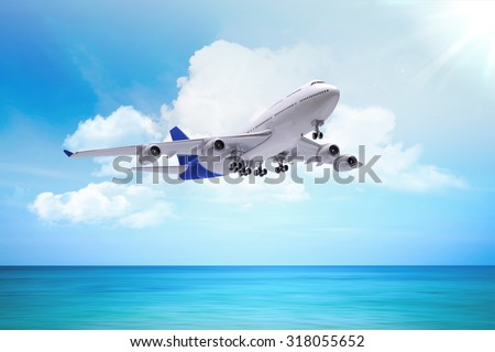 airplane, concept - stock photo