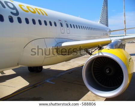 Airplane detail - stock photo