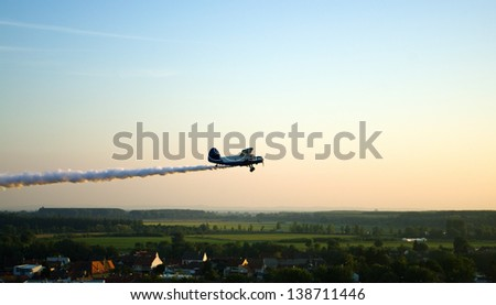 Airplane dusting - stock photo