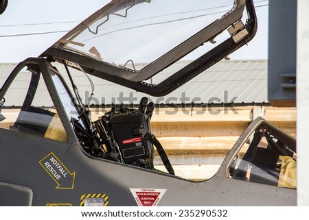 Airplane ejection seat  - stock photo