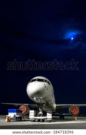 airplane front close up photo - stock photo