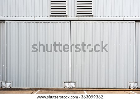 Airplane hangar. - stock photo