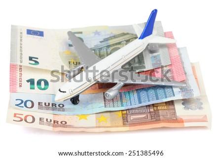 airplane money - stock photo