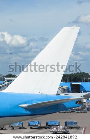 Airplane on tarmac - stock photo