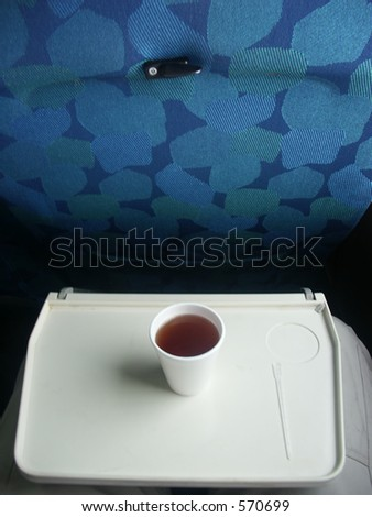 Airplane seat drink - stock photo