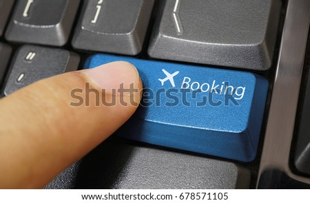 Airplane Symbol Button On Computer Keyboard Stock Photo Royalty
