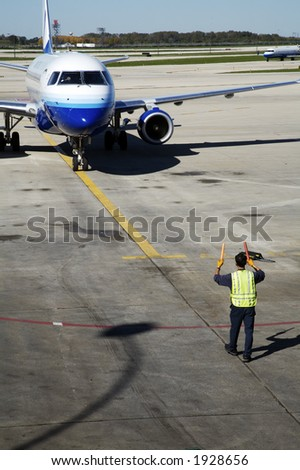 Airplane Taxiing - stock photo