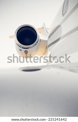 airplane turbine, detail - stock photo