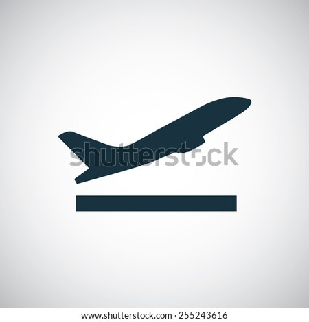airplane up icon on white background
