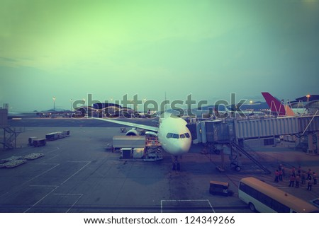 Airport Air Transport - stock photo