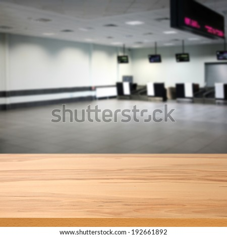 airport and yellow desk  - stock photo