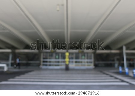 Airport blurred background people