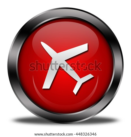 airport button isolated. 3D illustration