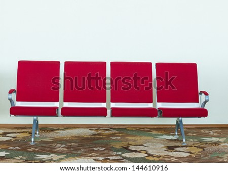 airport chair empty - stock photo