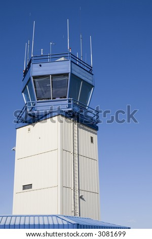 Airport Control Tower - stock photo