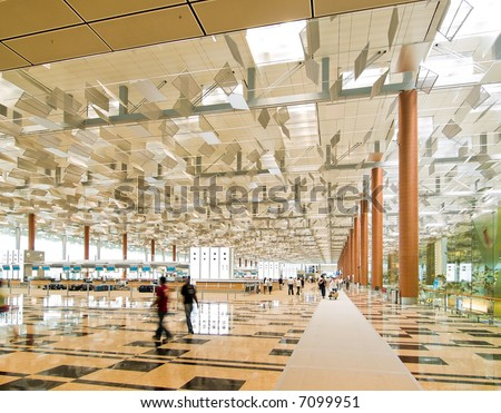 Airport, Departure Hall - stock photo
