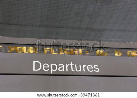 airport departures ticker close up 2 - stock photo