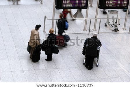 airport, passenger and travellers