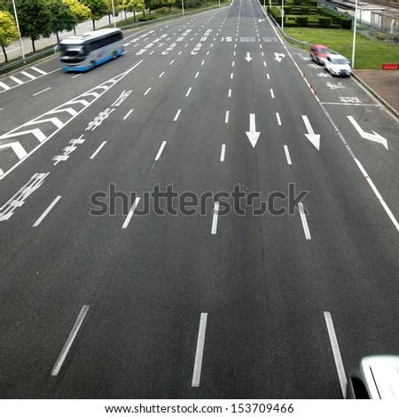 Airport Road - stock photo