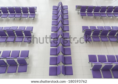 Airport seats  - stock photo
