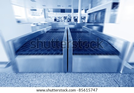 Airport security check with metal detector X ray - stock photo
