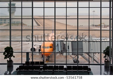 airport terminal macau - stock photo