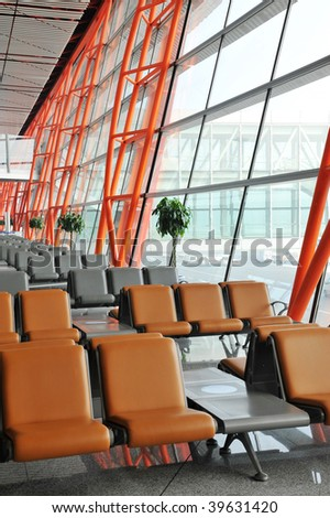 Airport waiting area, beijing, china