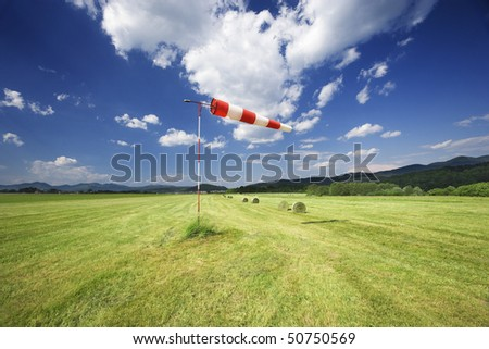 airport wind sign - stock photo