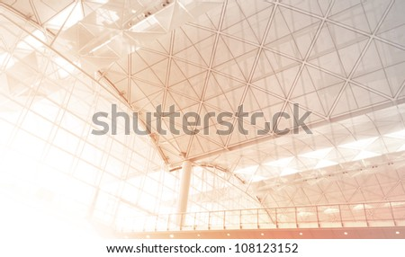Airport Window - stock photo
