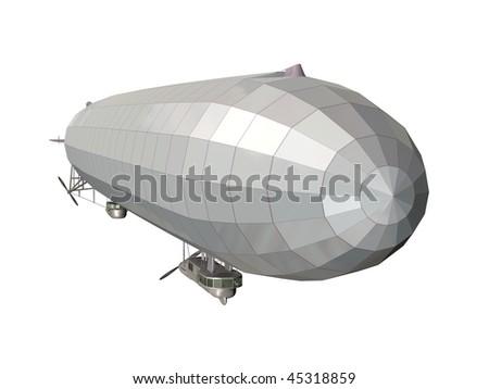 Airship - stock photo