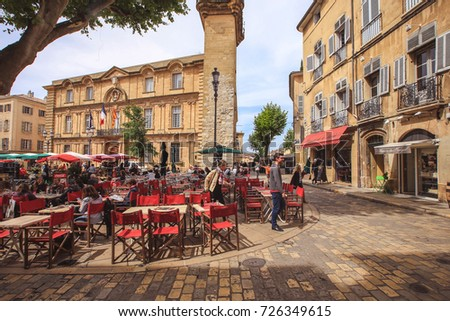 aixenprovence france may 09 2017 square stock photo royalty free 726349615 shutterstock. Black Bedroom Furniture Sets. Home Design Ideas