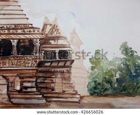 Ajanta ellora canves - stock photo