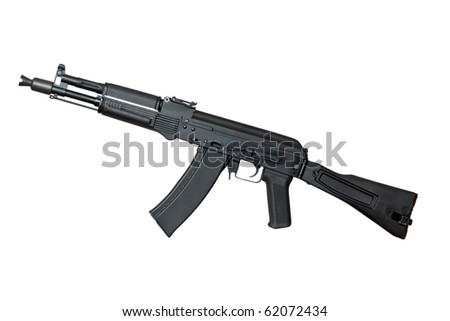 AK Rifle, isolated.