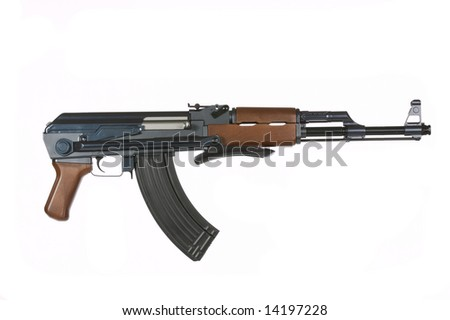 AK47 Rifle on a white background