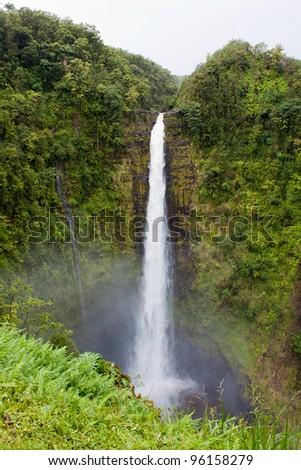 Akaka Falls in Hawaii Big Island - stock photo
