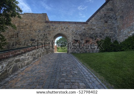 Akershus Fortress, In Oslo, Norway - stock photo