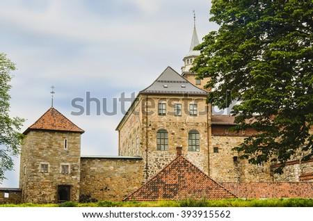 Akershus Fortress, Oslo, Norway - stock photo