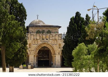 Al-Aqsa Mosque - third holiest place in Islam, Jerusalem, Israel  - stock photo