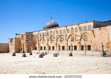 Al-aqsa mousque (Har Ha-Bayit) in Old City of Jerusalem. Israel