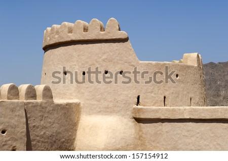 Al Bithnah Fort in Ras al Khaimah  - stock photo