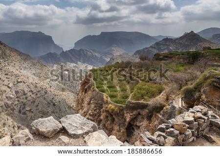 Al Hajar Mountains, Oman - stock photo
