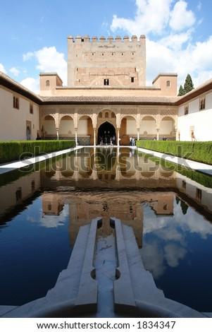 Al Hambra, Granada city in Spain - stock photo