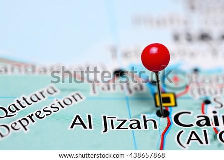 Al Jizah Pinned On Map Egypt Stock Photo Royalty Free 438657868