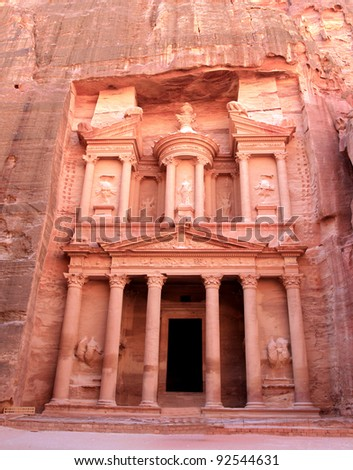 Al Khazneh - the treasury of Petra ancient city, Jordan