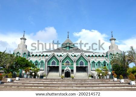 Al Markaz Al Islami, General M Yusuf  Mosque at Makassar Indonesia - stock photo