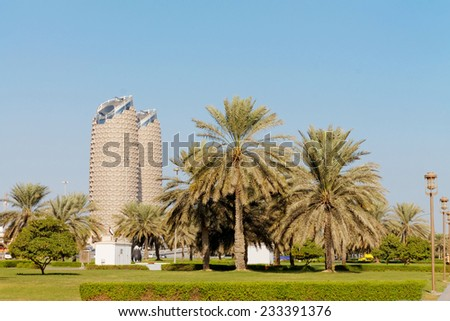 Al Salam Street, Abu Dhabi, United Arab Emirates - CIRCA, November, 2014: Al Salam Street is a popular street in Abu Dhabi with many scenic and relaxing views.