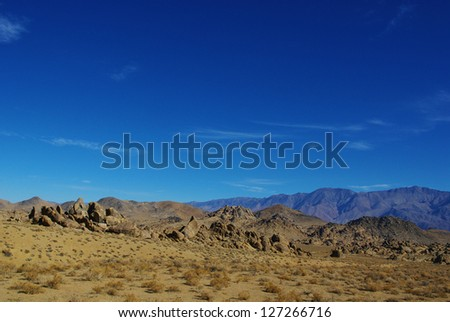 Alabama Hills and Inyo Mountains, California - stock photo