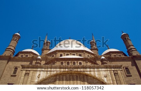 Alabaster mosque in Cairo 1 - stock photo