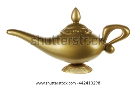 Aladdin Magic Lamp On White Background